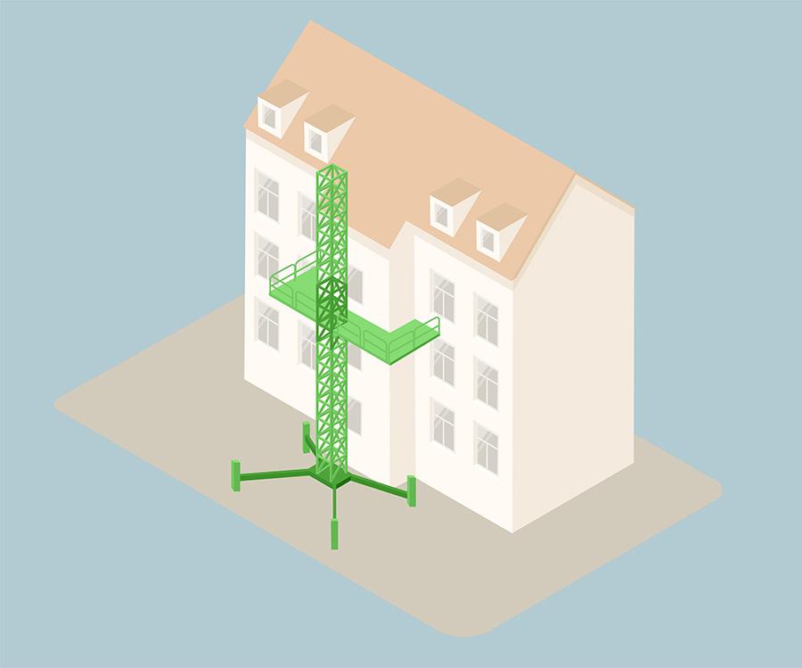 Pplatform Trappetårn